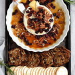 Baked Maple Brie with Pecans and Cranberries