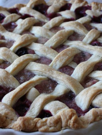 Blackberry Pear Custard Pie