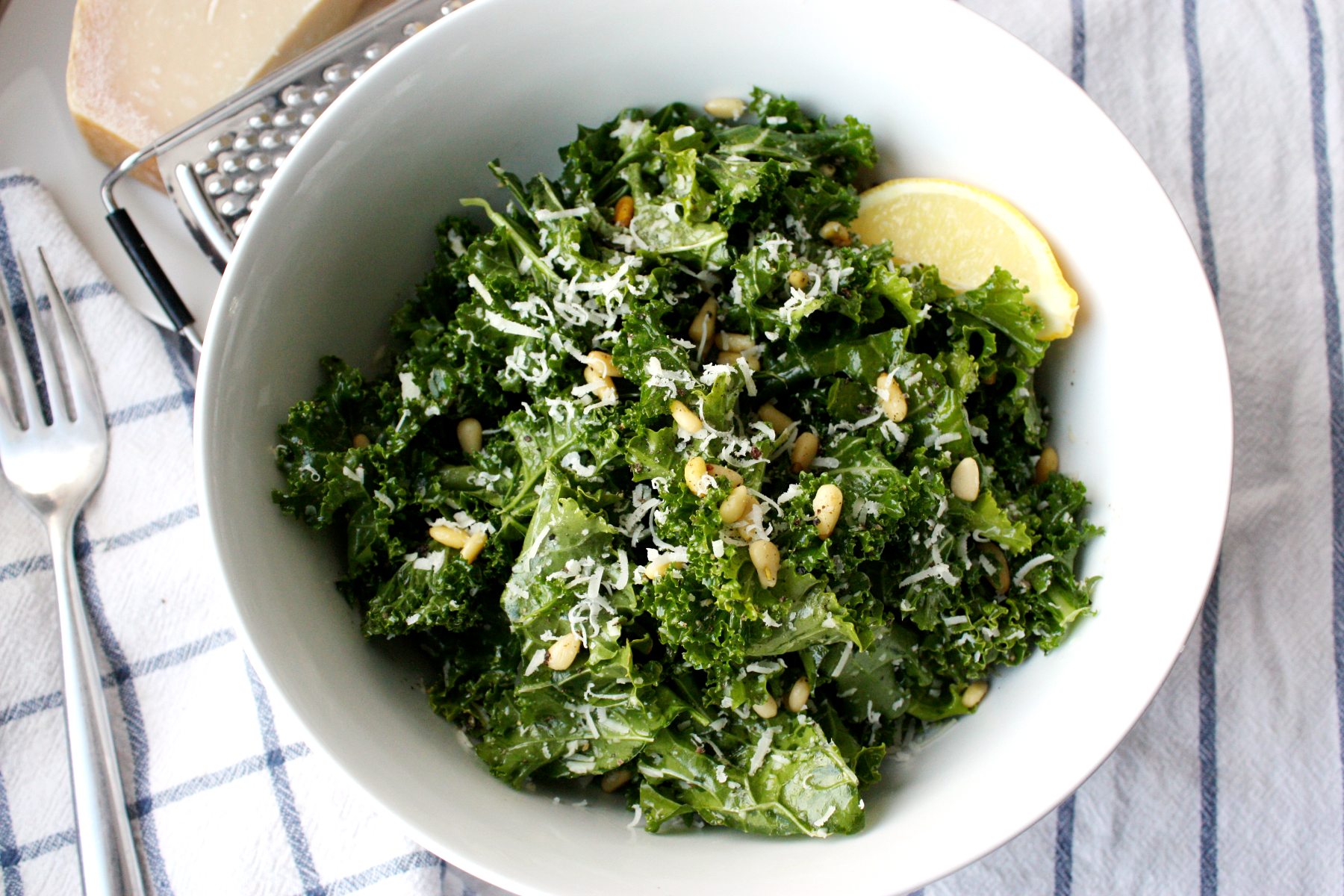 Go-to Parmesan and Pine Nut Kale Salad
