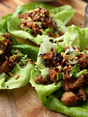 Chicken Moo Shu Lettuce Wraps