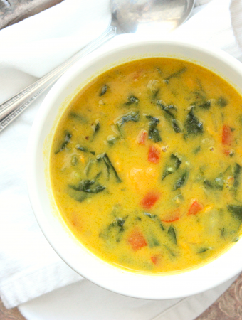 Healthy Coconut Veggie Soup