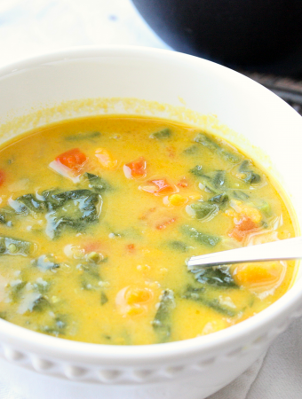 Healthy Coconut Veggie Soup