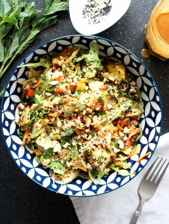 Asian Salad with Tamari Peanut Dressing