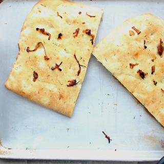Caramelized Onion Stuffed Focaccia