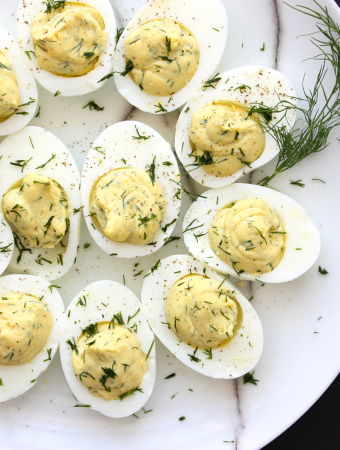 Deviled Eggs with Fresh Dill