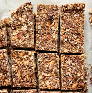 Healthy Chocolate Nut Granola Bars