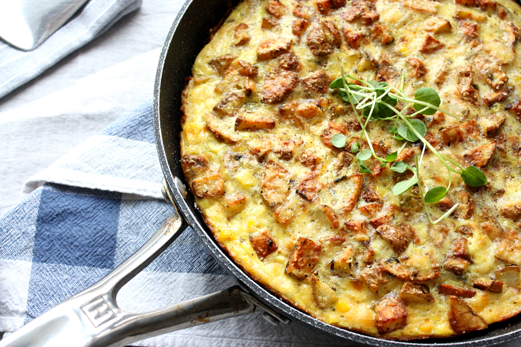 Roasted Potato and Corn Frittata
