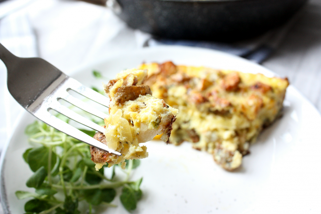 A bite of the best frittata recipe