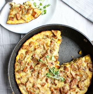 Oven-Baked Roasted Potato Frittata Recipe