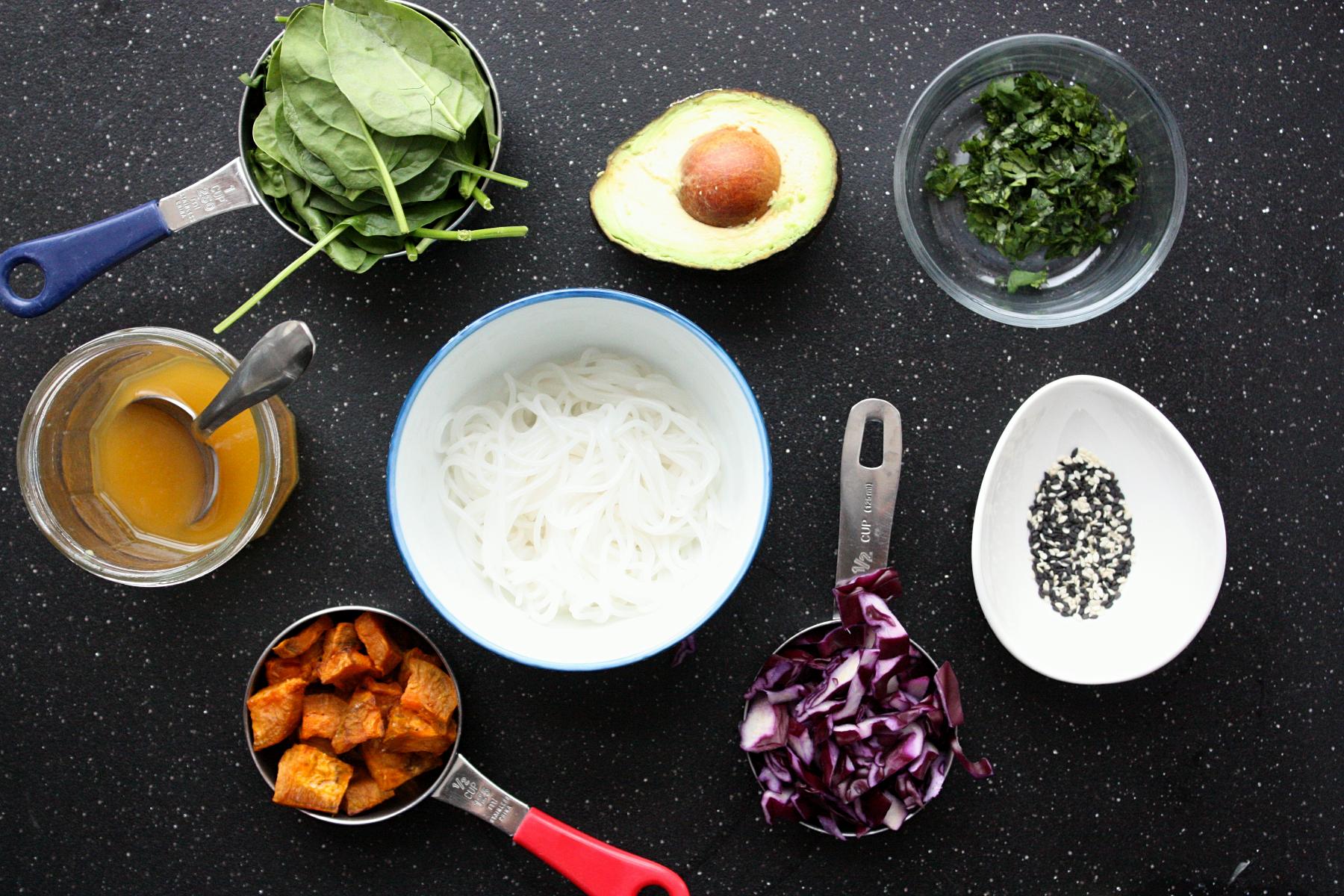 sesame ginger vermicelli bowl