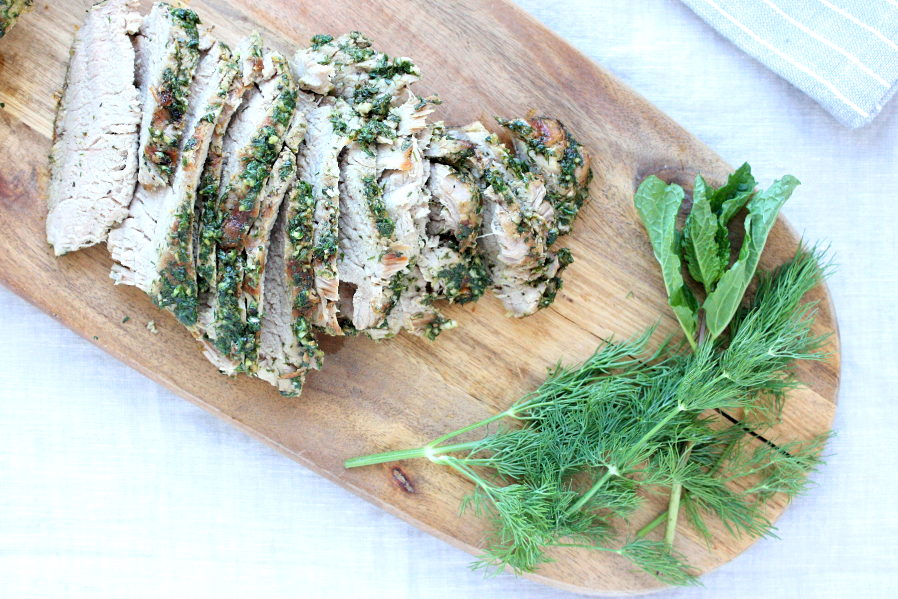Mint and Dill Rubbed Pork Tenderloin