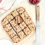 raspberry almond oat squares