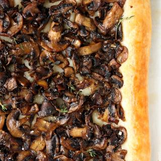 Sautéed Mushroom and Parmesan Tart