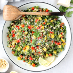 Herb Loaded Kale and Quinoa Salad