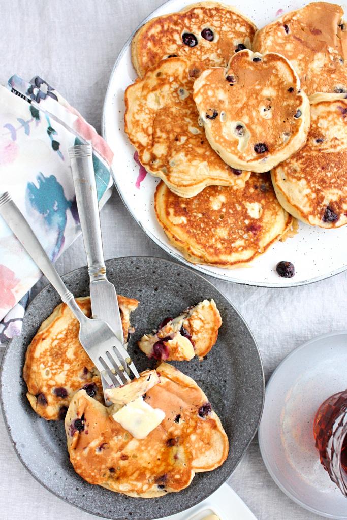 Best Blueberry Banana Pancakes