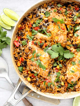 Healthy One Pan Mexican Chicken and Rice Recipe