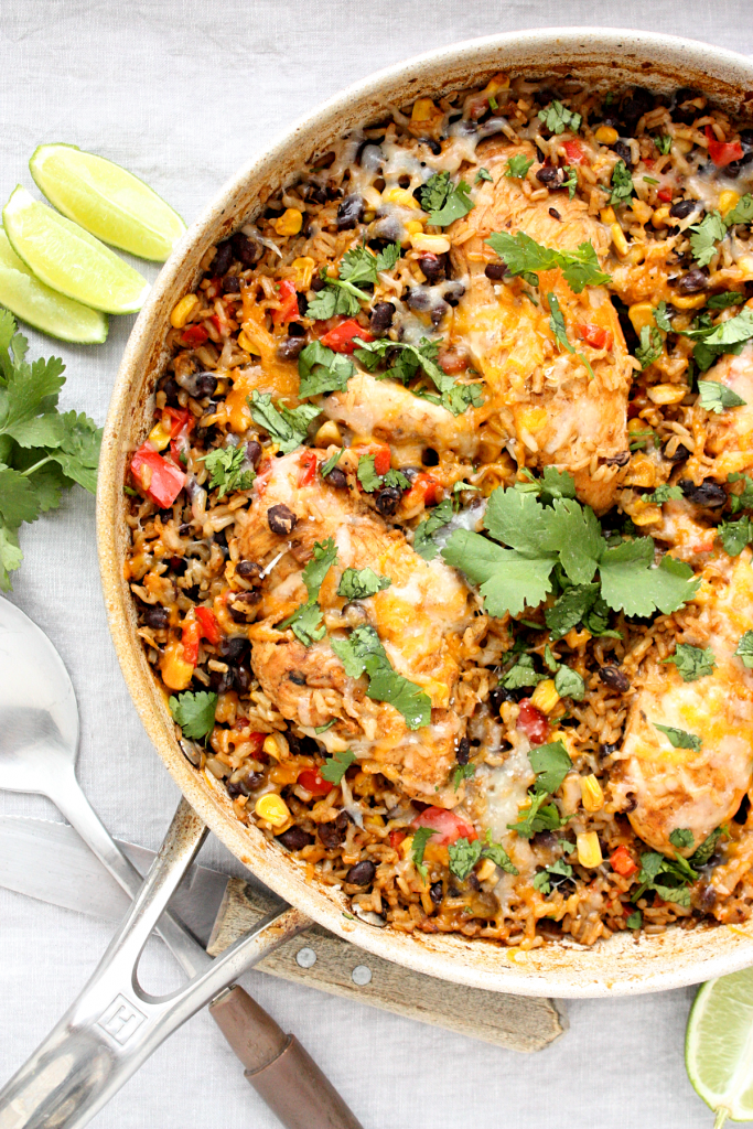 Healthy One-Pan Mexican Chicken and Rice