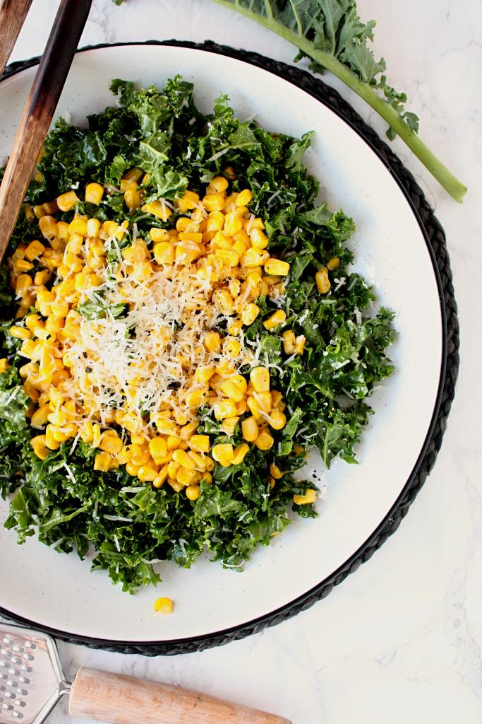 kale and sautéed corn salad