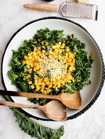 kale and sautéed corn salad