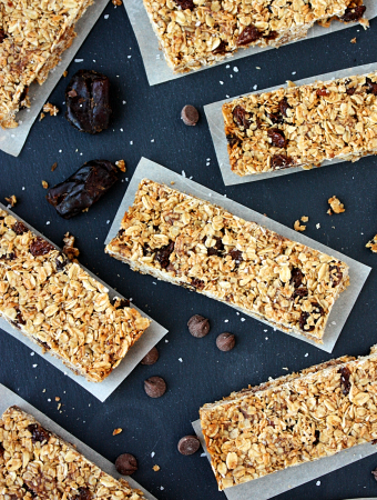 School-Friendly Chocolate Chip Raisin Granola Bars