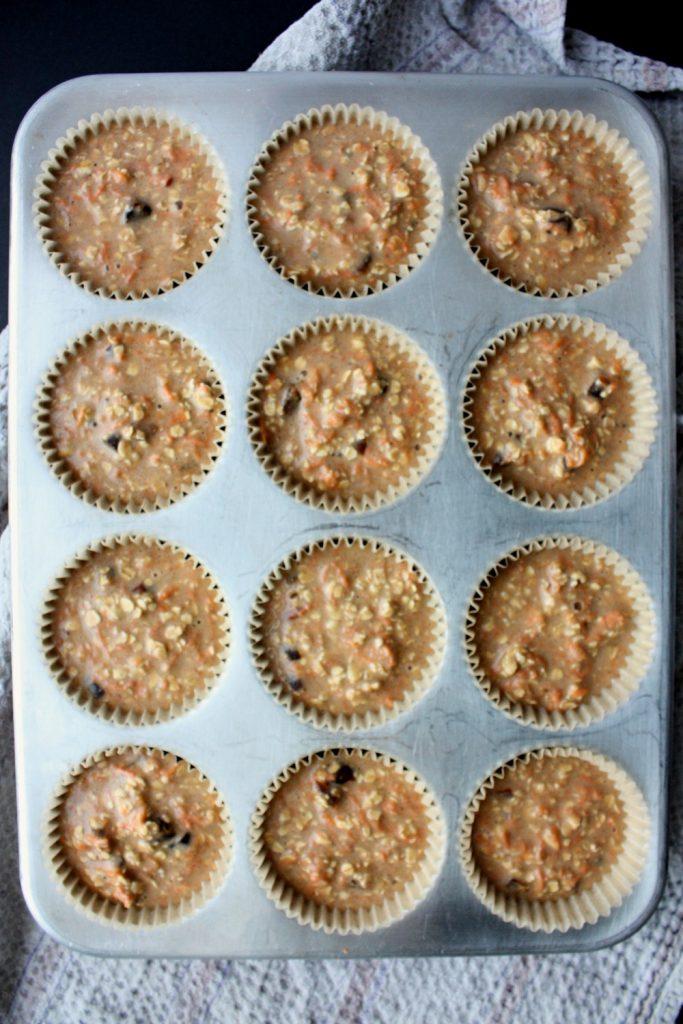 Scrumptious Carrot Date Muffins