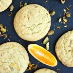 orange pistachio chewy sugar cookies