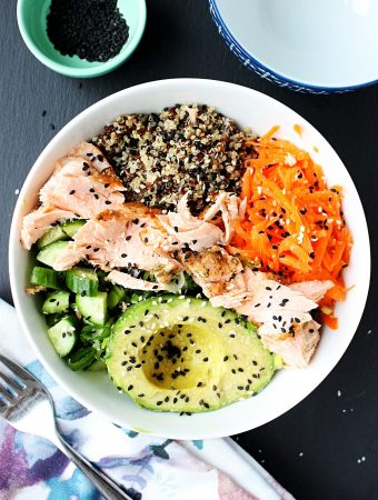 Salmon Poke Bowl Recipe with Quinoa