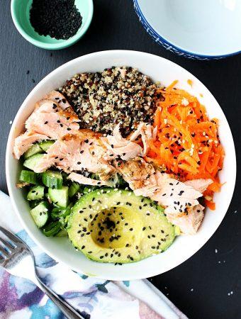 Salmon Poke Bowl Recipe with Quinoa