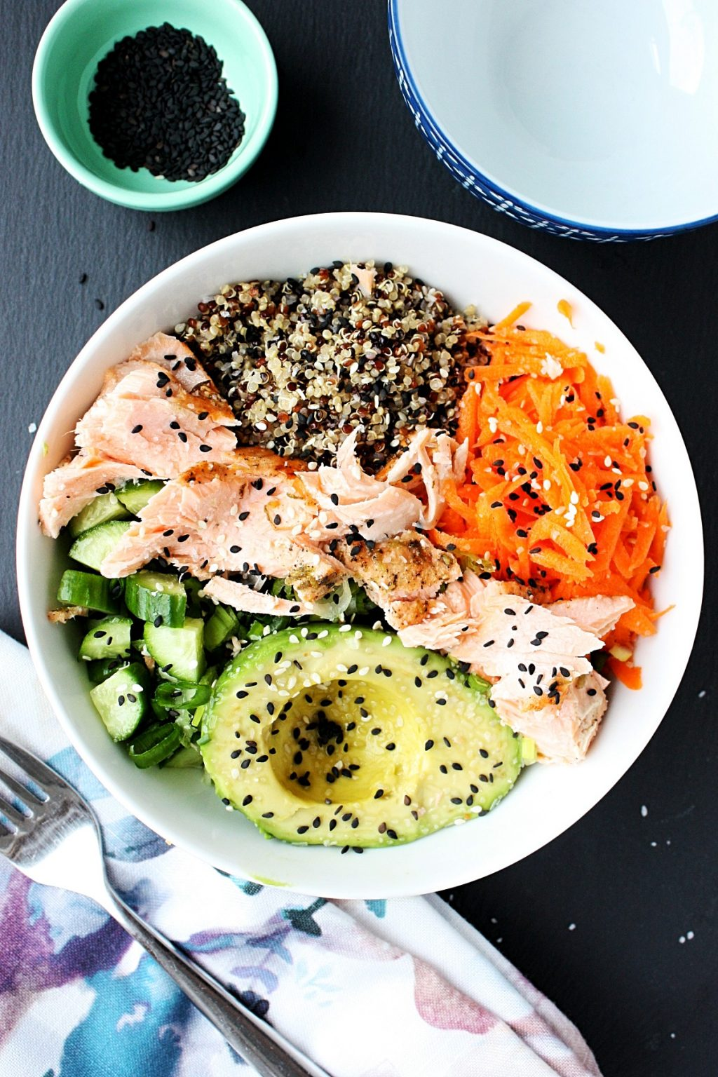 Salmon Poke Bowl Recipe With Quinoa Monday Sunday Kitchen