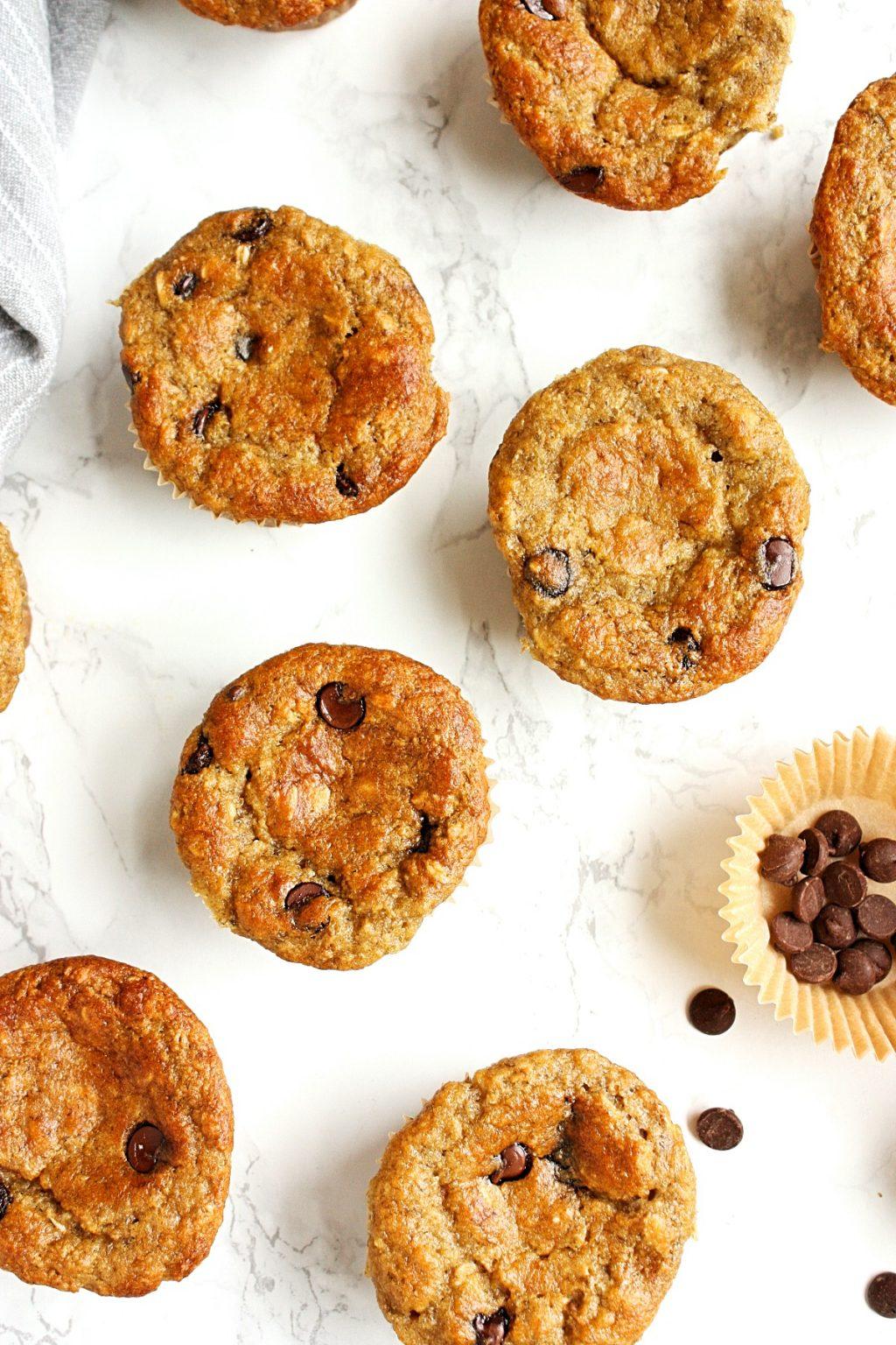 Gluten-Free Banana Muffins with Chocolate Chips