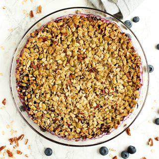 Easy healthy blueberry crisp