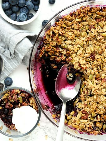 Easy Healthy Blueberry Crisp