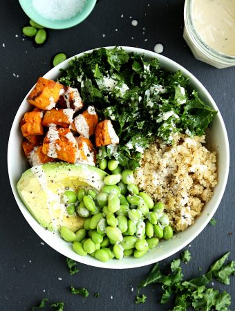 Sweet Potato Buddha Bowl with Kale and Quinoa