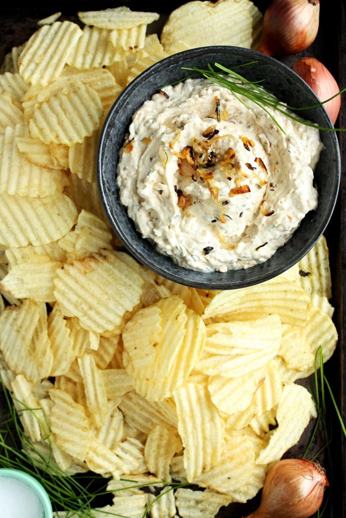 Roasted Shallots and Chive Dip