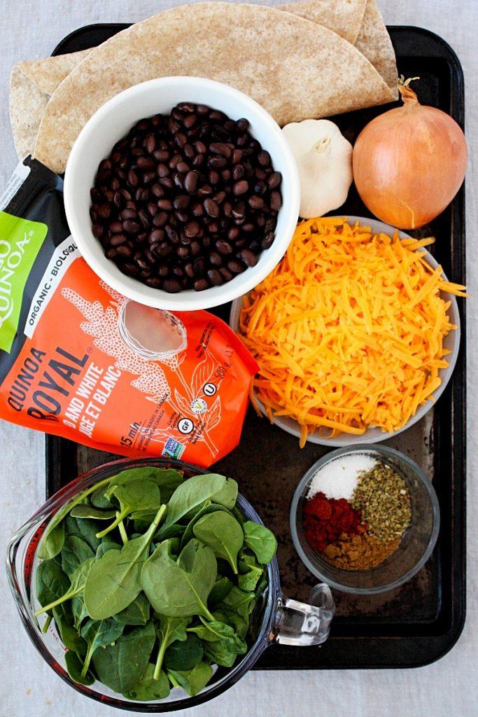 All the ingredients to make these yummy veggie enchiladas. #mondaysundaykitchen