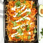 Veggie Enchiladas with Quinoa and Black Beans