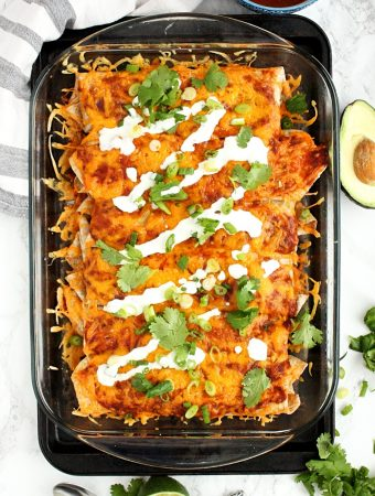 Veggie Enchiladas stuffed with Quinoa and Black Beans