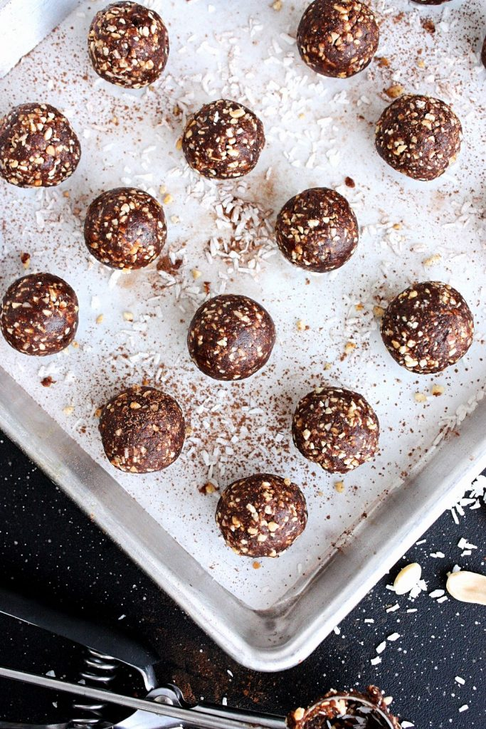 Chocolate Peanut No-Bake Energy Bites
