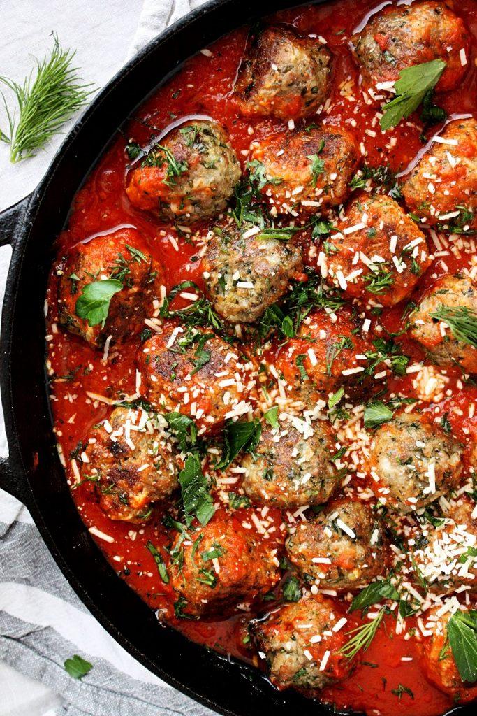 Easy Herb-Loaded Meatball Recipe