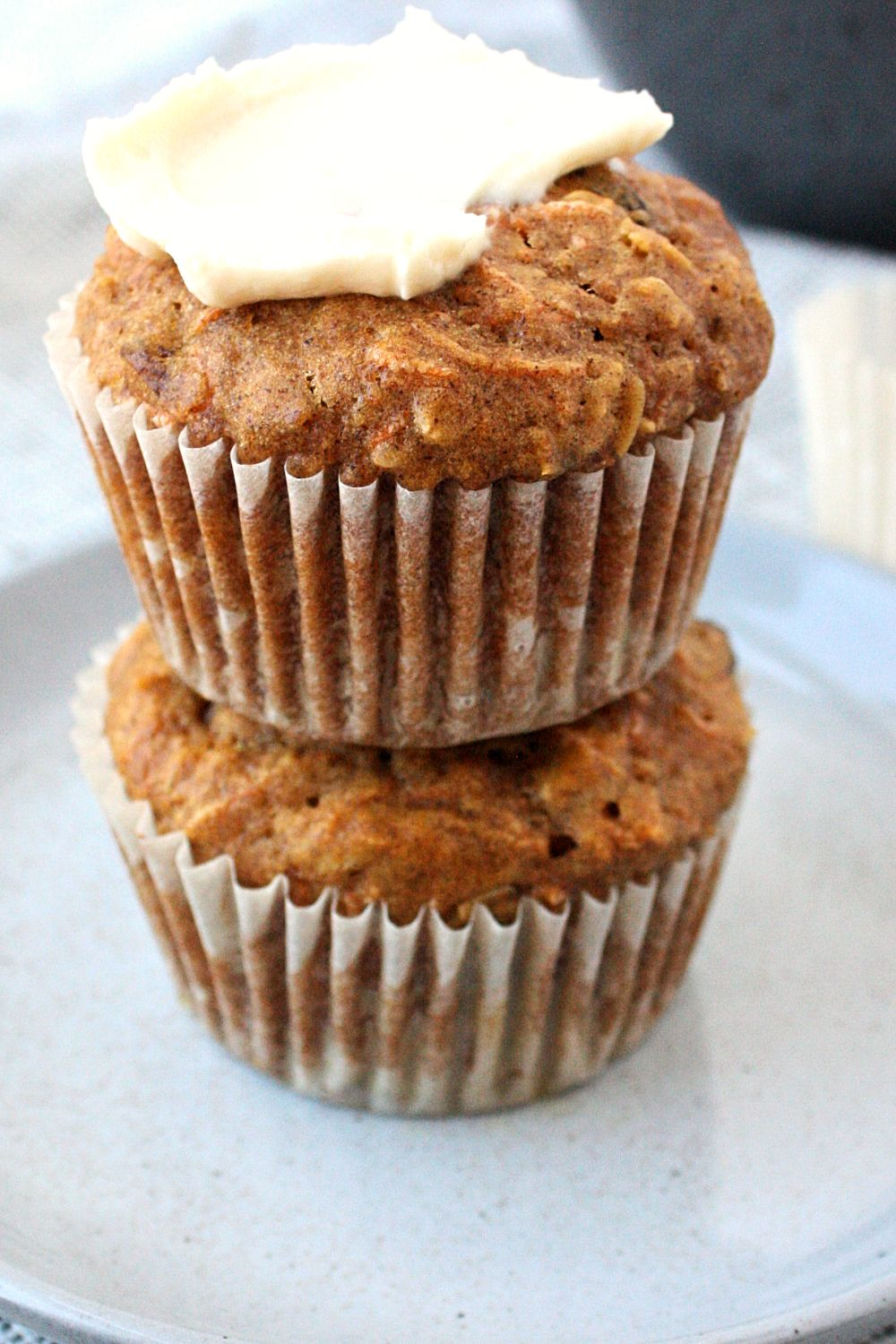Healthy Carrot Cake Muffins