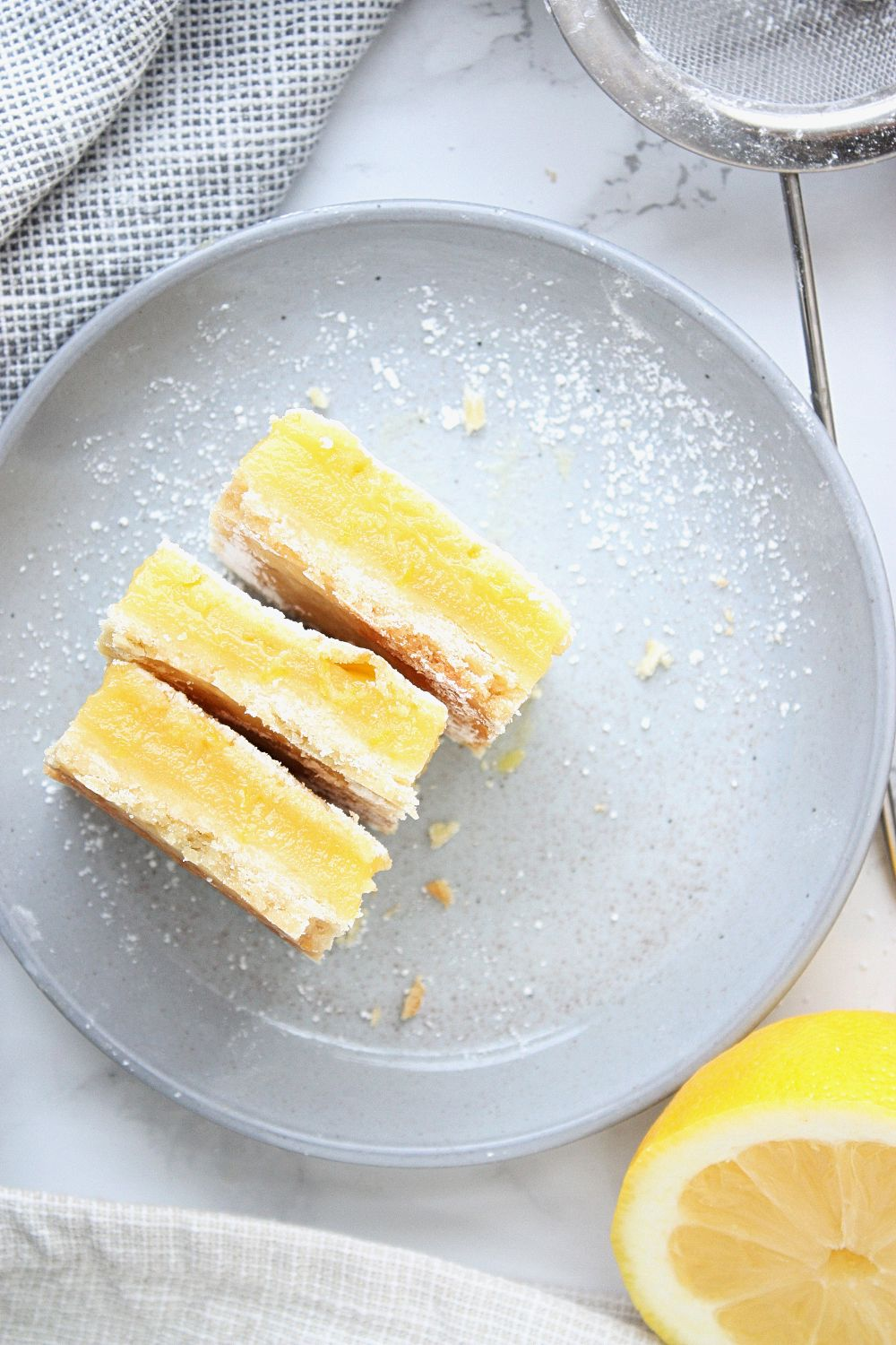 Lemon Squares with Shortbread Crust